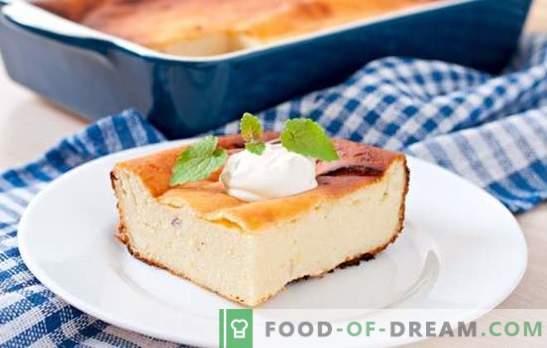 Варено сирене за готвене с грис за закуска и вечеря. Рецепти за готвене извара със сос сладки и осолени
