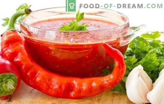Аджика на домати и чесън за зимата: гореща тема на домашно приготвени препарати. 7 най-добри рецепти от домати и чесън за зимата