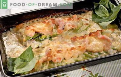 Филе от треска във фурната - просто, здраво и вкусно. Най-добрите рецепти за филе от треска във фурната: със зеленчуци, сирене, сметана и пита