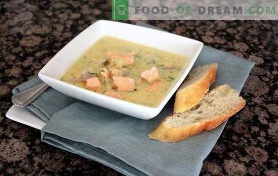 Розова супа от сьомга - кралски първи курс: с дим или водка? Рецепти на гърбави супи със зеленчуци, зърнени храни, гъби, яйца