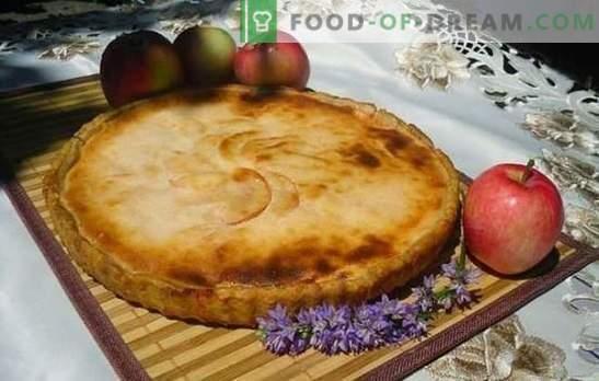 Пай с ябълки - вкус на цяла къща! Рецепти на пасти с ябълки на кефир, заквасена сметана, майонеза, мляко