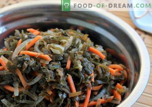 Салата от водорасли - най-добрите рецепти. Как правилно и вкусно да се готви салата от водорасли.