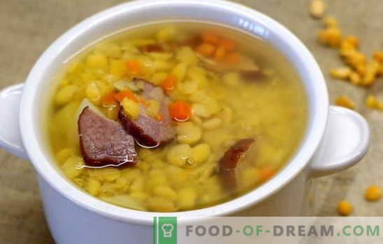 Грах супа с говеждо месо - проста и богата. Най-добрите рецепти за грахова супа с говеждо месо: просто и сложно