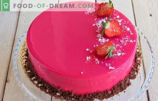 Мус тортата е красива и невероятно вкусна! Рецепти за мус торти с огледална глазура на кондензирано мляко, с какао и шоколад