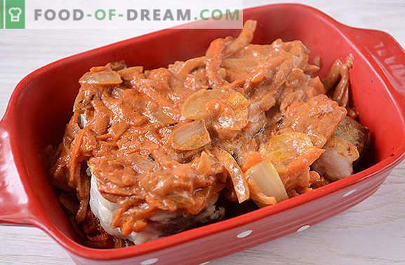 Хекът под зеленчуци - вкусен и топъл и студен! Авторска стъпка по стъпка рецепта със снимка: как да се приготви хек в растителна шуба