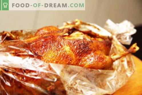 Патица в ръкава - най-добрите рецепти. Как правилно и вкусно да се готви патица в ръкава.