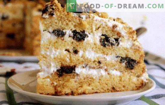 Медена торта със заквасена сметана. Разнообразие от опции за тесто и импрегниране за торта с мед със заквасена сметана.