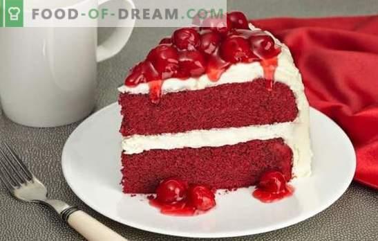 Red Velvet Cake е ярко, вкусно ястие. Най-добрите рецепти на известната торта