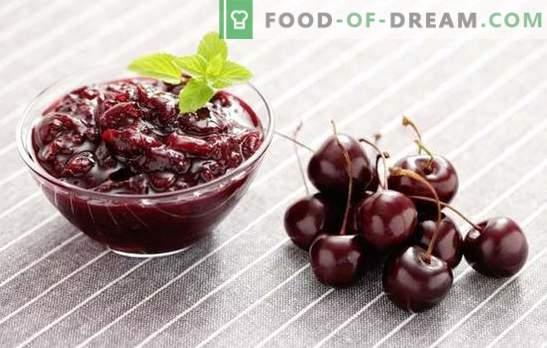 Сладко от череши е нежна подготовка за зимата. Рецепти за сладко от череши: с лимон, касис, ягоди, розови листенца