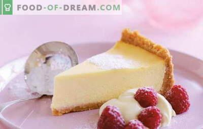 Cheesecake met Mascarpone - een romige kaastaart. Recepten voor vanille, cottage cheese, strawberry cheesecake met mascarpone