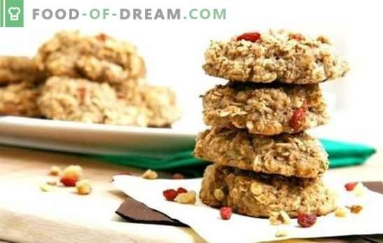 Диетични бисквити от овесени ядки - печенето може да бъде полезно! Рецепти диетични овесени бисквити с извара, ябълки, стафиди