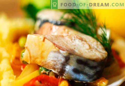 Скумрия със зеленчуци - най-добрите рецепти. Как правилно и вкусно да се готви скумрия със зеленчуци.