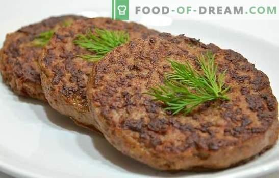 Котлети от говеждо месо от черен дроб - маскиране на полезен страничен продукт! Котлети от говеждо месо: традиционни и авторски рецепти