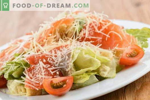 Салата със сьомга и сирене - правилните рецепти. Бързо и вкусно приготвяне на салата със сьомга и сирене.