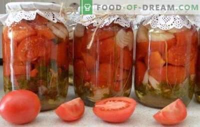 Домати за зимата без стерилизация: витаминен килер. Варианти на различни доматени салати за зимата без стерилизация