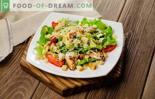 Вкусни салати в бързаме: просто не означава