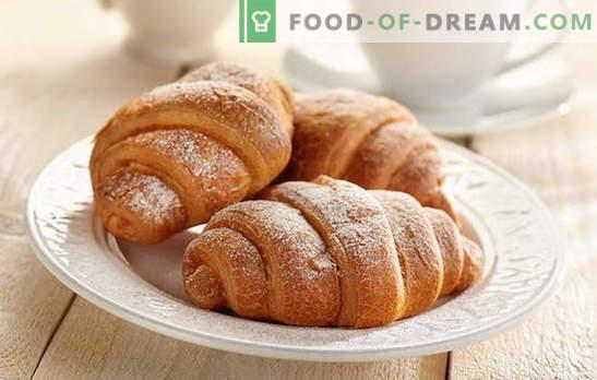 Кроасани с кондензирано мляко - толкова вкусни! Кроасани с рецепти за кондензирано мляко: от дрожди, печиво, тесто за извара