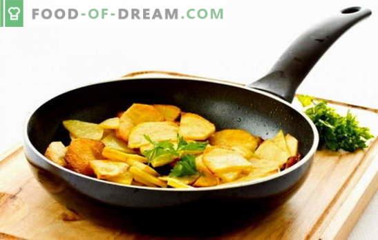 За майстори и начинаещи: как да изпържи картофите в тиган. Бабите ще ви кажат как да запържвате картофите с кора в тиган