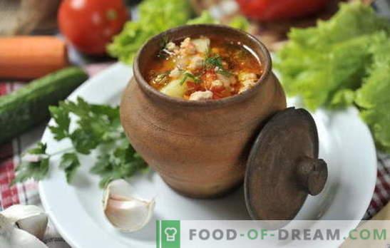 Супа в саксията във фурната - резултатът е изненадващ! Рецепти на супи в саксии във фурната: зеленчуци, месо, пиле, гъби