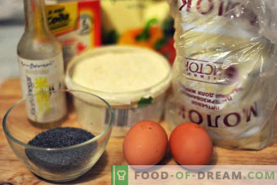 Фото рецепта за пай с маково семе: винаги успешна печене! Дори едно дете може да направи макова торта: снимка стъпка по стъпка на всички етапи