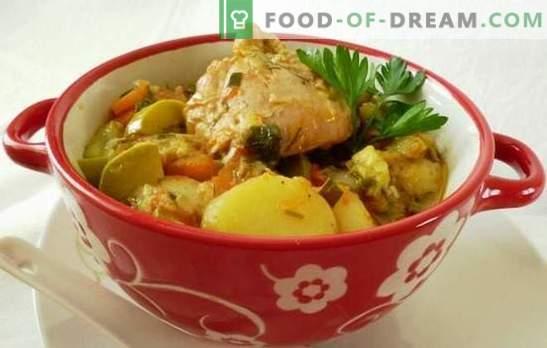 Рагу с пиле в бавен котлон - подхранващо диетично ястие. Как да готвя пилешко яхния в бавен печка, като същевременно запази ползите от зеленчуци