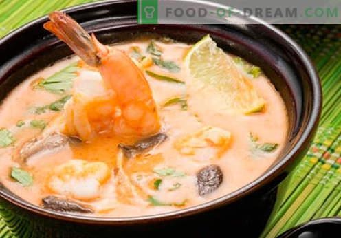 Супа Том Ям - доказани рецепти. Как да готвя супа Том Ям.