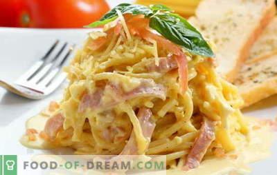 Karbonara s slanino in kremo je odlična ideja za izvrstno večerjo. Recepti za karbonano s slanino in kremo iz italijanske gurmanske