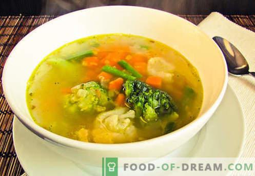 Вегетарианска супа - доказани рецепти. Как да готвя вегетарианска супа и вкусно.