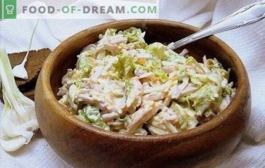 Чеснова салата: за вегетарианци и месоядни. Избор на рецепти за най-вкусните салати от чесън