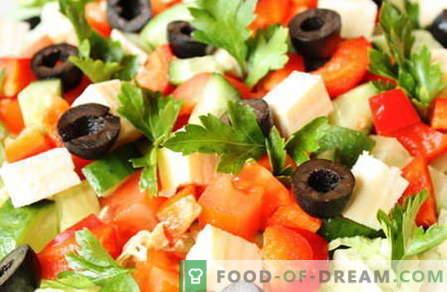 Салати без майонеза - най-добрите рецепти. Как правилно и вкусно салати да се готви без майонеза.