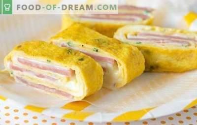 Le rouleau de jambon et fromage est la collation parfaite. Recettes des meilleurs petits pains au jambon et au fromage: en pain pita, feuilleté, aux champignons