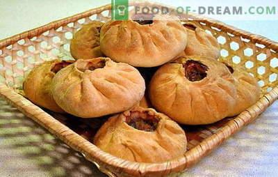 Vak-belyash: una torta succosa per un paio di morsi! Ricette di vari vac-bianchi: con carne, patate, riso, cavolo, funghi