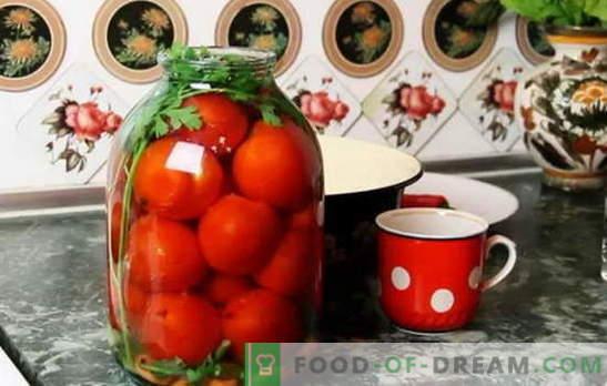 Най-добрите рецепти за домати под капана на капрона. Как да се подготвят домати под капана на капана: съвети опитни домакини