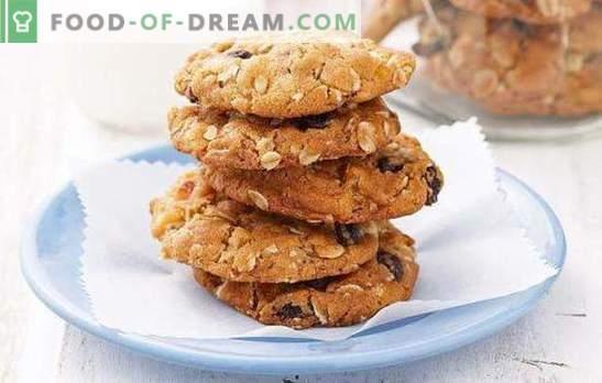 Овесени сладки на кефир - за чай! Как да се пекат овесени бисквитки на кефир маслено тесто, конфитюр, хрупкави, без брашно, с мед