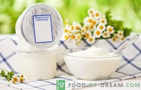 Заквасена сметана крем - полезна и гъвкава. Как да се смесват съставки в крем крем торта?