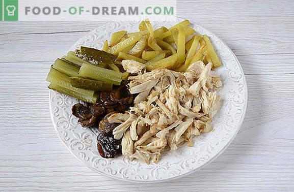 Лаваш и пилешко филе шаурма с гъби - домашно приготвени заведения за бързо хранене. Стъпка по стъпка авторската фото-рецепта вкусна домашна шаурма