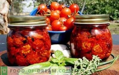 Сушени домати за зимата - най-много! Прости и достъпни методи за съхранение на сушени домати за зимата