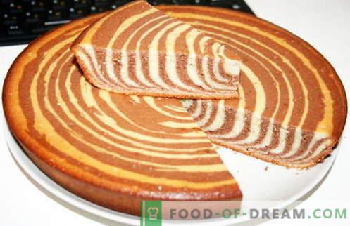 Zebra Cake - най-добрите рецепти. Как да правилно и вкусно готви зебра торта.