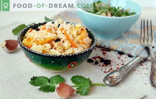 Плов във фурната: основните нюанси на готвенето. Пилаф рецепти във фурната: месо, зеленчуци, сладки