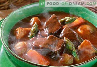 Goulash-soep - bewezen recepten. Hoe goed en smakelijk koken goelasjsoep.