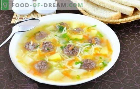 Супа с кюфтета и юфка - правенето на вкусен обяд е просто! Най-добрите рецепти за супи с кюфтета и юфка