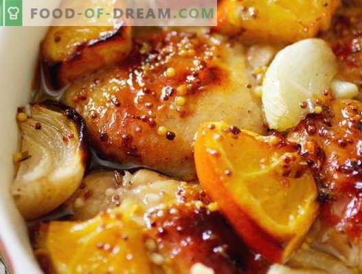 Пиле с портокали - най-добрите рецепти. Как правилно и вкусно да се готви пиле с портокали
