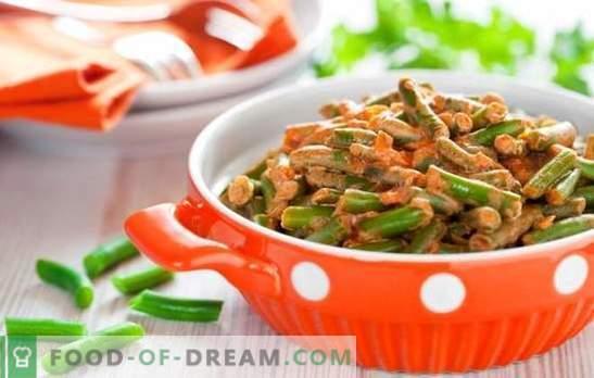 Как да се готви зелен фасул вкусно и бързо: салата, гарнитура със зеленчуци, яйца, гъби. Готвене на зелен фасул вкусно - рецепти