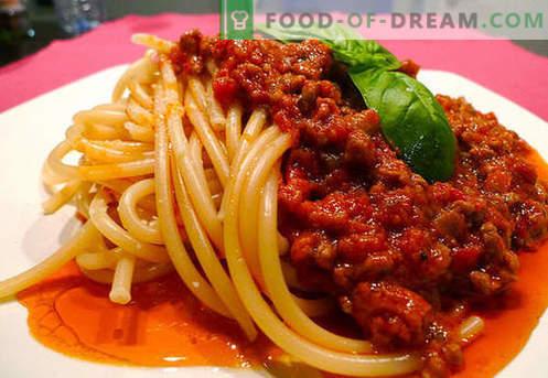 Сос Болонезе - най-добрите рецепти. Как правилно и да се готви сос Болонезе.