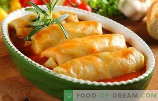 Зелеви ролки във фурната - ястие с изразителен вкус! Рецепти за различни пълнени зеле във фурната: мързеливи, класически, с гъби, зеленчуци