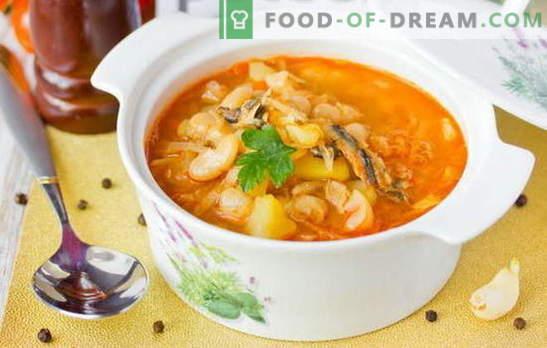 Супата от копърка в доматен сос е бюджетна версия на вкусен обяд. Доказани рецепти за супа от цаца в доматен сос