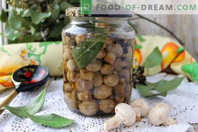 Домашно мариновани печурки за 1 ден