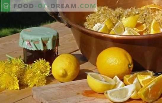 Lemon Dandelion Jam - Здравословна сладост! Варианти на сладко от глухарче с лимон, мандарина, мента, ябълка, нар