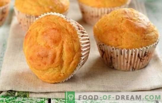 Майонеза Cupcake - това е обрат! Рецепти за домашно приготвени кифлички на майонеза с стафиди, конфитюр, какао, нишесте, масло и кефир