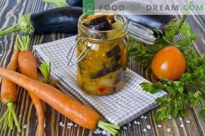 Aubergine aux carottes - Salade de légumes pour l'hiver